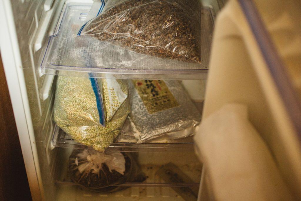 手打蕎麦いっこう 冷蔵庫