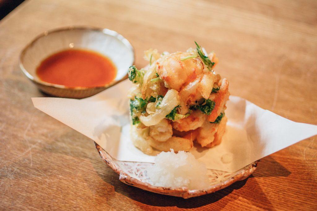 手打蕎麦いっこう かき揚げ 天ぷら
