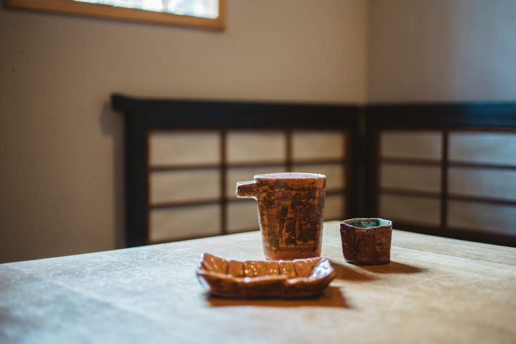 手打蕎麦いっこう ご主人が作った陶器