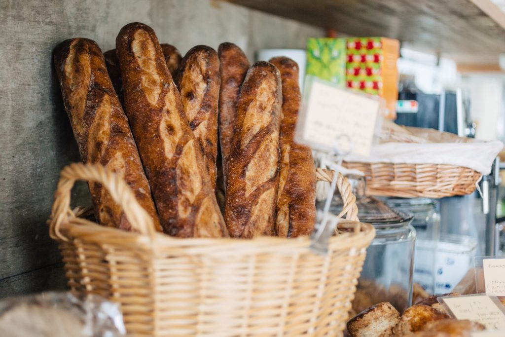 フランスパンアップ